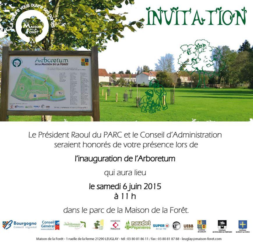 invitation arboretum 6 juin